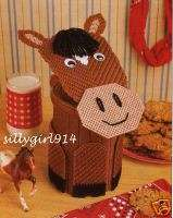 HORSE CANISTER~Annies Plastic Canvas PATTERN~OOP