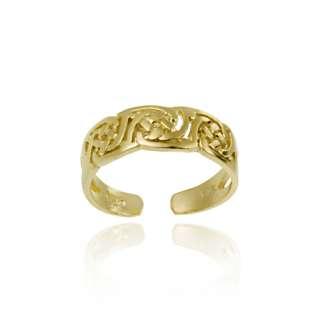 18K Gold Over Silver Irish Celtic Knot Toe Ring