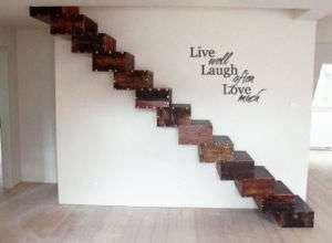 Live, Laugh, Love Vinyl Wall Art Lettering Quote
