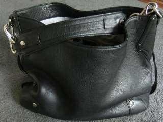 COLE HAAN Extra Large Gorgeous Black Leather Hampton Hobo Bag ~ USED