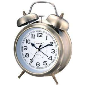 Maples Clock Q850GC Double Bell Alarm Clock in Glossy
