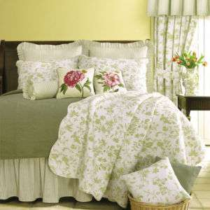 BRIGHTON GREEN FRENCH COUNTRY TOILE 5pc QUILT SET TWIN