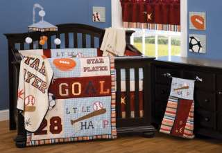 New Little Champ Baby Boy 6 pc Crib Bedding Set Sports