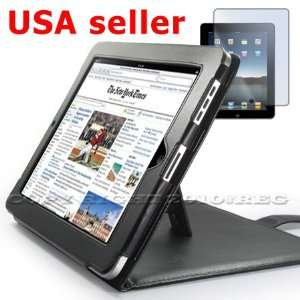 LEATHER CASE COVER BOOK STAND +SCREEN PROTECTOR GUARD FOR APPLE IPAD