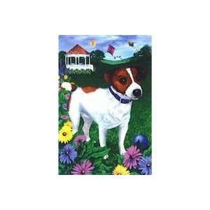 Jack Russell House Flag by GR8 Dogs (Multi, 25 x 38