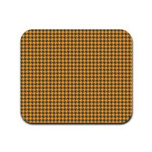 Houndstooth Pattern   Orange and Black Mousepad Mouse Pad