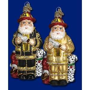 Mercks Old World Christmas sale Santa Claus fireman glass