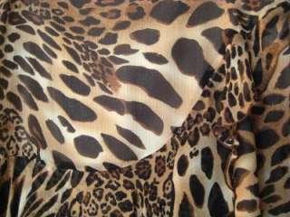 PETER NYGARD SILK ANIMAL LEOPARD PRINT SKIRT NWT $98