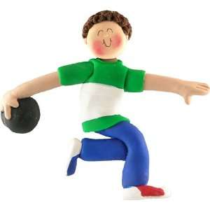 Bowling Male with Brown Hair Beauty