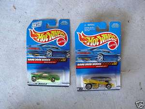 Lot of 2 1998 Hot Wheels Game Over Series Cars MIP