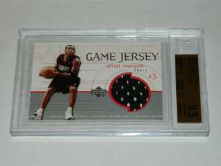Deck Game Jerseys ALLEN IVERSON Jersey BGS 9.5 GEM MINT Card
