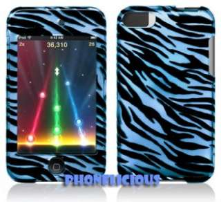BLUE Zebra for iPod Touch 2nd Generation 2 Cases Covers
