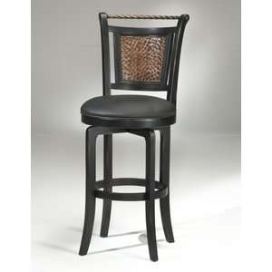 Hillsdale Norwood Swivel Black and Copper Counter Stool