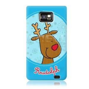 Ecell   CHRISTMAS RUDOLPH RED NOSED REINDEER BACK CASE FOR