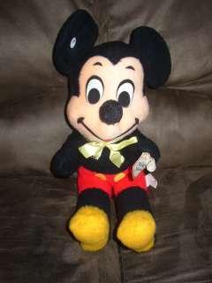 Vintage Mickey Mouse Stuffed Animal Plush Disney Tag