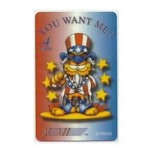 Collectible Phone Card 4m Uncle Garfield You Want Me (Dressed Like