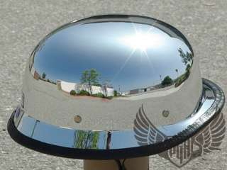 Chrome German Style Biker Motorcycle DOT Approved Half Helmet Harley M