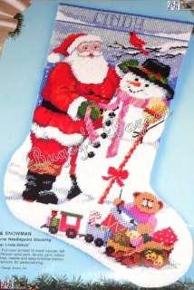 SNOWMAN w Toys Stocking Needlepoint Christmas Kit  Linda Gillum