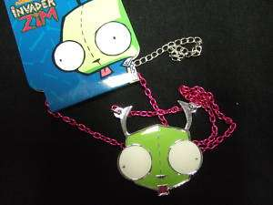 CUE NEW INVADER ZIM GIR HEAD DOG SUI NECKLACE CHAIN |