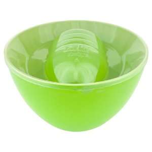Zak Designs Tonal Greens 5 Piece Salad Bowl Set, Serving Bowl with 4