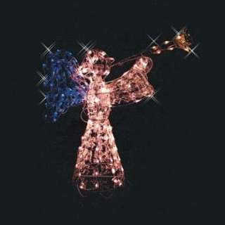48 LIGHTED 3D GLISTENING ANGEL WINGS CHRISTMAS OUTDOOR