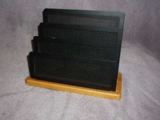 RUBBERMAID/NEWELL WOOD&WIRE MESH MINI DESKTOP SORTER