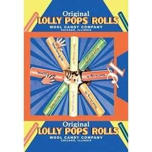 Original Lolly Pops Rolls   12x18 Framed Print in Gold Frame (17x23