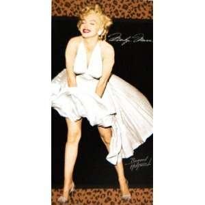 Marilyn Monroe Classic White Dress Pose Fiber Reactive
