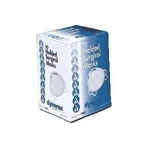 Surgical Face Mask, Blue, 50/box Baked White Aluminum