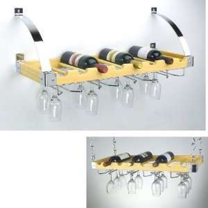 Wine Bottle & Glass Ceiling/Wall Rack   8 Bottles
