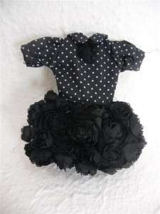 Neo Blythe Outfit Clothing Handmade Cloth Basaak Dress Black roses