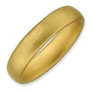 Sterling Silver Stackable Gold plated Satin Ring Jewelry