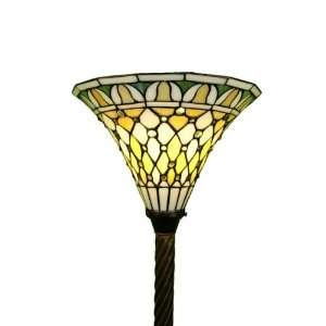 72 Classic Torchiere Floor Lamp Tiffany Style Bronze Finish Energy