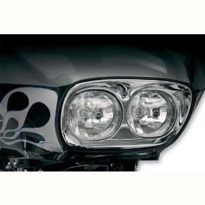 Hells Foundry HFFLTHSC Headlight Surround, Black For Harley Davidson