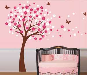 Baby Room Tree Nature Vinyl Wall Paper Decal Art Sticker Q40
