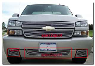 06 07 Chevy Silverado SS Bumper Billet Grille 3PCs Insert Grill