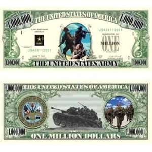Us Army Million Dollar Bill Case Pack 100 Toys & Games