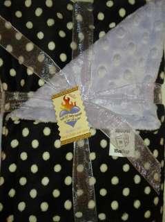 MINKY Polka Dots w Lavender Baby Blanket Multip Sizes