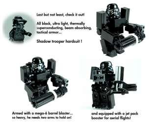 Custom Black OPs Gunship Shadow Clone Trooper Lego Star War 7676
