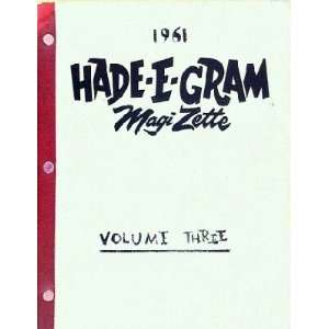 Hade E Gram Magi Zette (Volume Three): Books