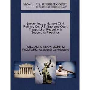 Speyer, Inc., v. Humble Oil & Refining Co. U.S. Supreme