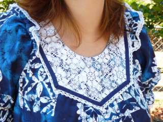 VTG Muu Mu HAWAIIAN MOO DRESS Hawaii Sz S LONG BATIK