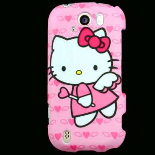 Case+Car Charger for T Mobile MyTouch 4G Slide Hello Kitty F Snap On