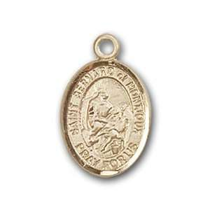 14kt Gold Baby Child or Lapel Badge Medal with St. Bernard of Montjoux