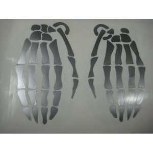 Skull Skeleton Hand Grenade vinyl decal sticker