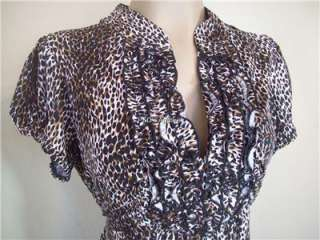 New Heart Soul Womens Plus Size Clothing 1X 2X 3X Leopard Print Shirt