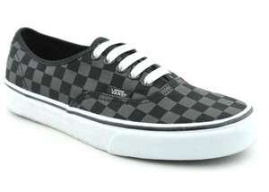 Mens Vans Authentic skate shoes   Checkered Black 700051798801