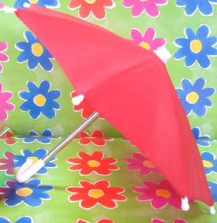 DOLL CLOTHES fits American Girl Molly Red Umbrella WOW