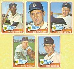 1965 TOPPS BASEBALL DETROIT TIGERS CARDS w/2 HIGH #s