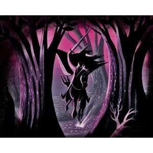 Sleepy Hollow Headless Horseman Framed Giclee on Canvas